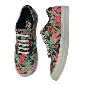 Vans tropical print lace up sneakers 9.5
